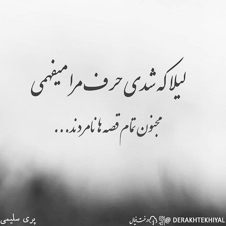 مجنون تمام قصه ها نامردند Farsi Poem Persian Quotes Persian Poetry