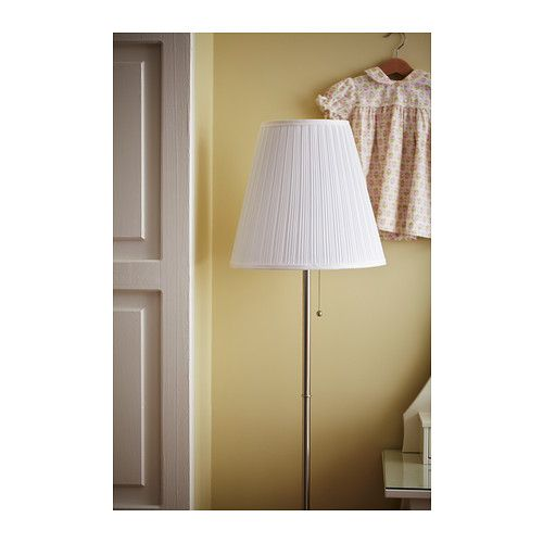 best service 7ddc7 f7929 Floor lamp ÅRSTID nickel-plated, white | lighting | Ikea ...