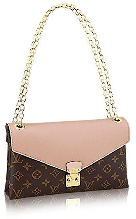 3084210431ee Louis Vuitton Pallas Chain Dune Color Clutch Shoulder Bag Cross Body  Article  M50069