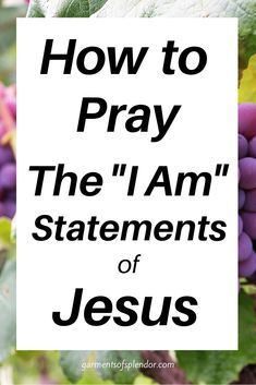 Praying the I Am Statements of Jesus -