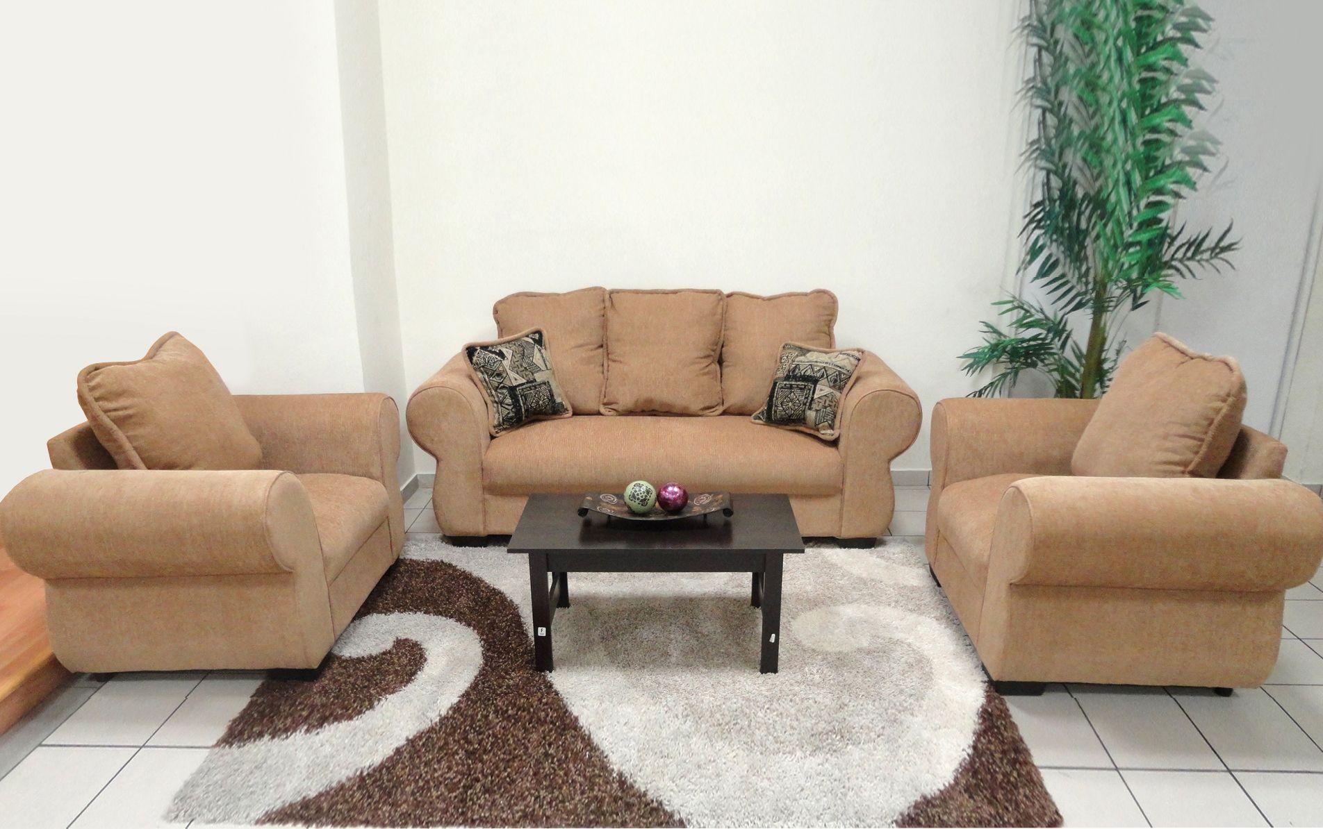 Juego De Sala Mod Blue Dorado Disponible También En Color Café Muebles Muebles Sala Muebles Para Casa