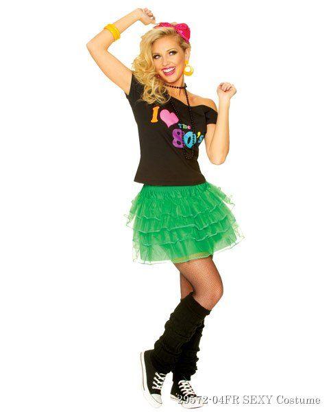 Green 80u0027s Petticoat - In Stock. 1980s CostumeKids 80s ...  sc 1 st  Pinterest & Green 80u0027s Petticoat | 80 s Costume shop and Costumes