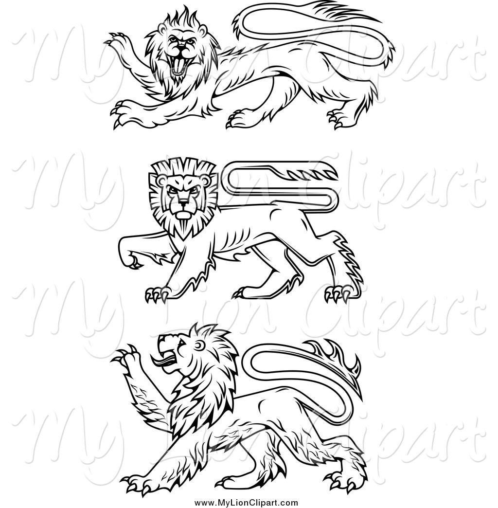 54 Awesome Rampant Lion Clipart