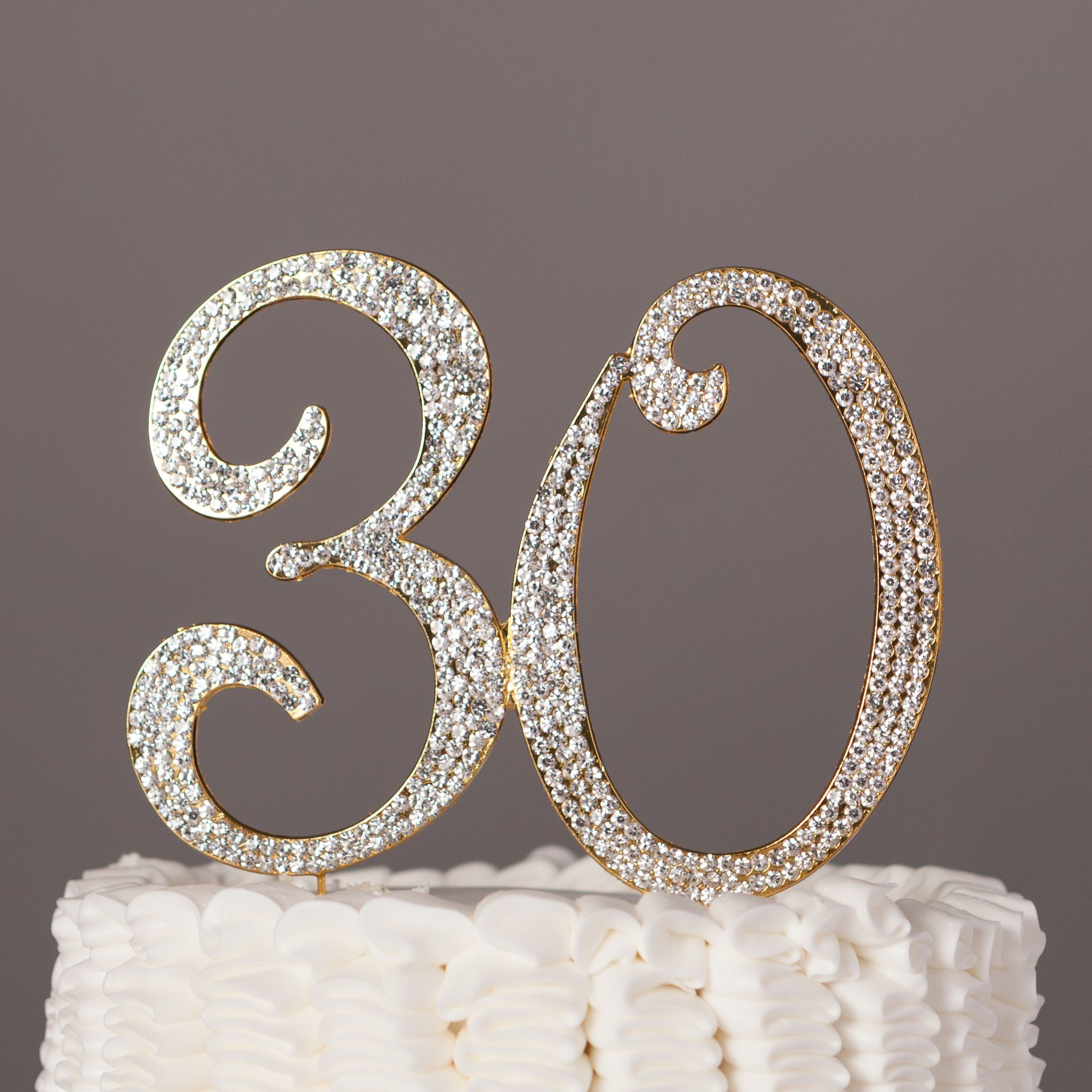 30 gold cake topper 30th birthday anniversary number