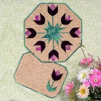 Spring Tulips Table Topper & Placemats | YouCanMakeThis.com