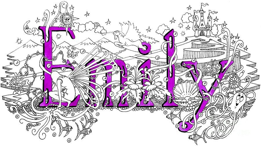 Name Drawings: Emily Name Art Drawing