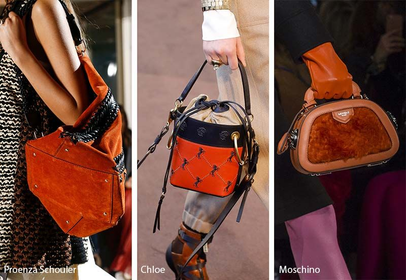 Fall Winter 2018 2019 Handbag Trends Burnt Orange Red Bags Purses