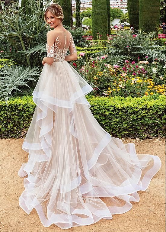 Magbridal Marvelous Tulle See Through Wedding Dresses With Cascading Ruffles – Products