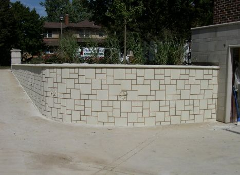 Photos Of Stenciled Cement Overlay Of Residential Driveway