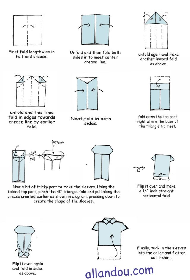 Origami shirt how to.