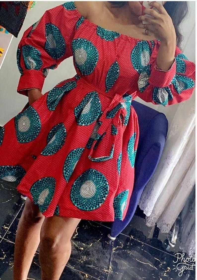 African print dress, Africa women dress, Ankara dress, dress, African dress. Many other fabric choices available, boho dress #afrikanischerdruck