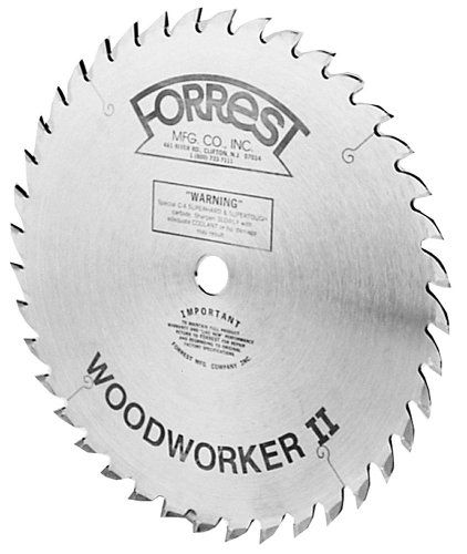 Tablesaw 134 99 Forrest Ww10407125 Woodworker Ii 10 Inch 40 Tooth Atb 125 Kerf Saw Blade With 5 8 Inch Arbo Circular Saw Blades Table Saw Blades Saw Blade