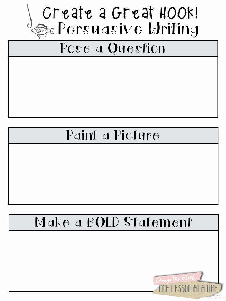 Writing Good Hooks Worksheet Fresh The Three Basic Parts Of An Essay In Order Are The Persuasive Writing Writing Words Argumentative Writing