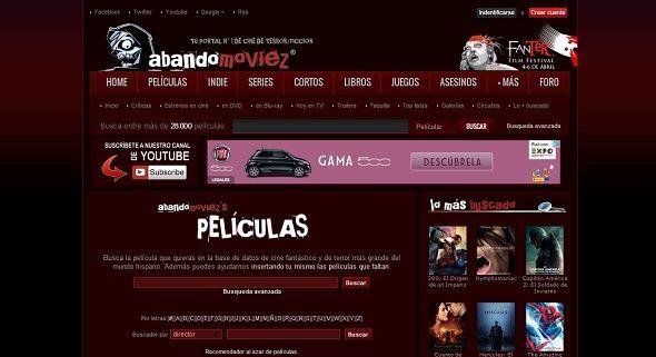 aBaNDoMoVieZ es una de las bases de datos más completas de cine de terror, fantástico y ciencia ficción.
