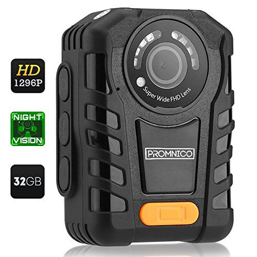 Police Body Camera for Law Enforcement: Wearable Video + Audio Body Camera with Night Vision for Security Guards, Police Officers, and Personal Use [Records in Full HD + Waterproof] - 32GB Memory #audiovideo
