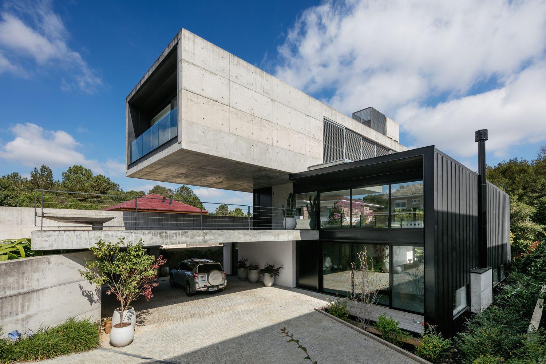 แบบบ านคอนกร ต เสร มเหล ก 3 ช น Concrete Houses Architecture Concrete House