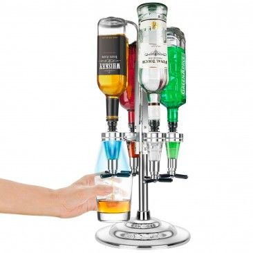 Bar Butler mit LED - Beim Betätigen des Butlers leuchten die LEDs im Takt mit den Feuerwerken an Silvester