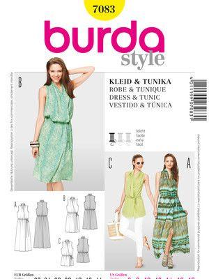 Burda schnittmuster tunika kleid