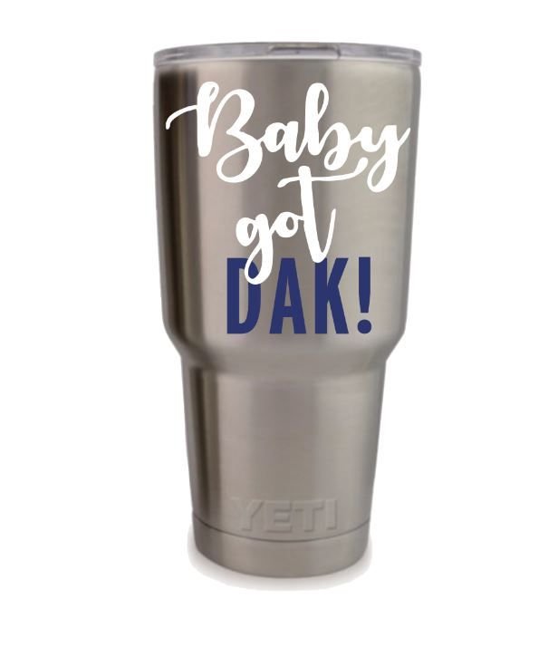 Dallas cowboys decal girly cowboys decal custom decals personalized cups custom yeti