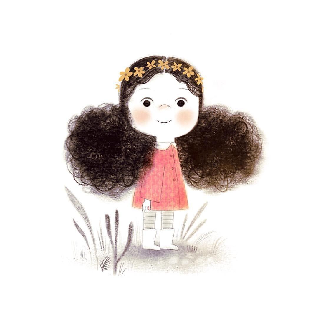 "Alea on Instagram: ""cutie patootie! 🌼~ I hope you all have a lovely day :^) #art #artist #instaart #illustration #childrensillustration #kidlitart #digitalart…"""