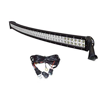 Easynew 52 inch 300w ip68 waterproof curved led light bar truck easynew inch waterproof curved led light bar truck light bar off road led light bar with free wiring years warranty aloadofball Choice Image
