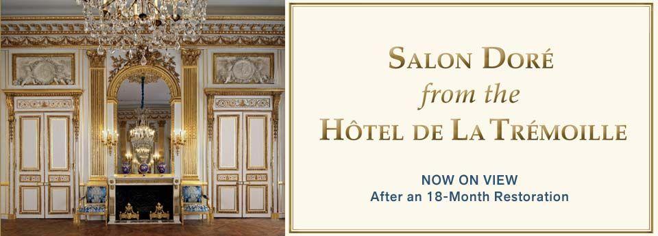 The Salon Doré from the Hôtel de La Trémoille