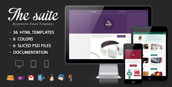 The suite - Responsive Email Template  Fonts Impregnable u2013 from - responsive email template