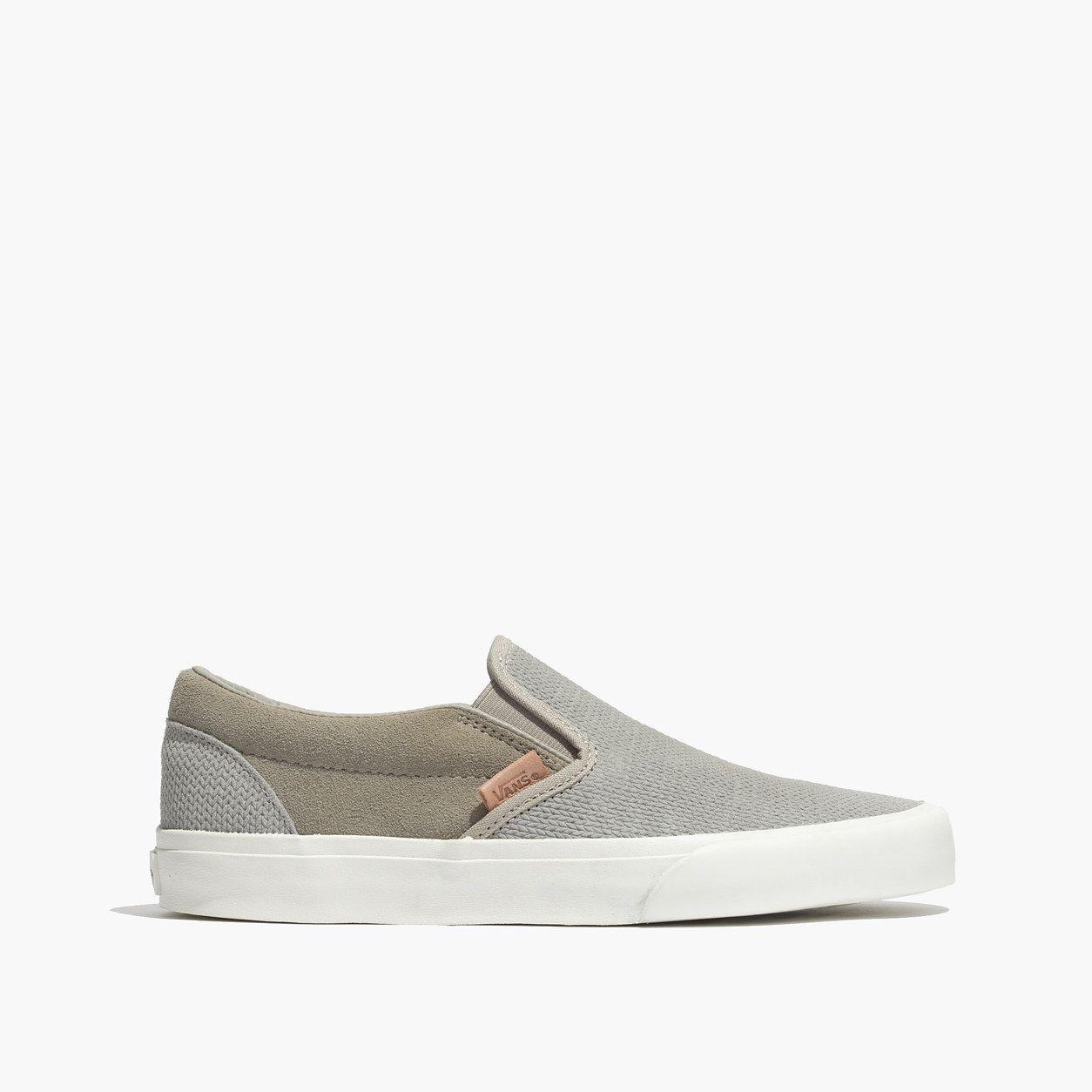 wide varieties factory outlets get online Madewell Vans Slip-On Sneakers In Textured Suede   *Shoes ...