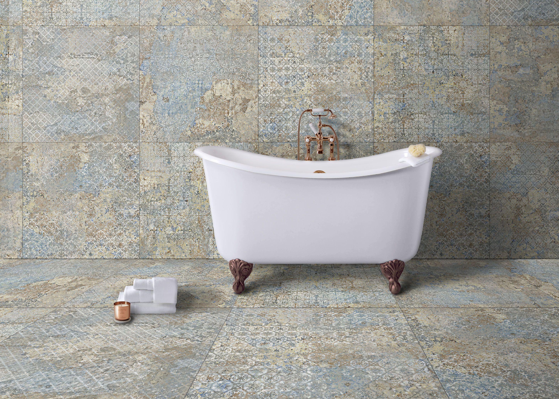 Fliese Ornamente Vintage Teppichoptik Carpet Vestige Natural Verschiedene Zufallige Dekore Bad Fliesen Ideen Teppichfliesen Fliesen