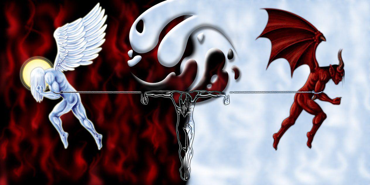 Angels And Devils Anime Porn good -vs- evil   evil art, dark evil, evil angel
