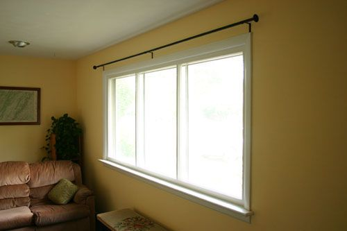 Make Stylish Yet Inexpensive Curtain Rods Long Curtain Rods Diy
