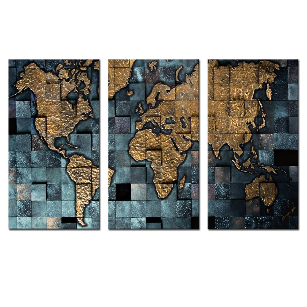 3 panel wall art world map poster office decor contemporary wall wall print picture more detailed picture about 3 panel wall art world map poster office decor contemporary wall prints map of the world modern canvas gumiabroncs Gallery