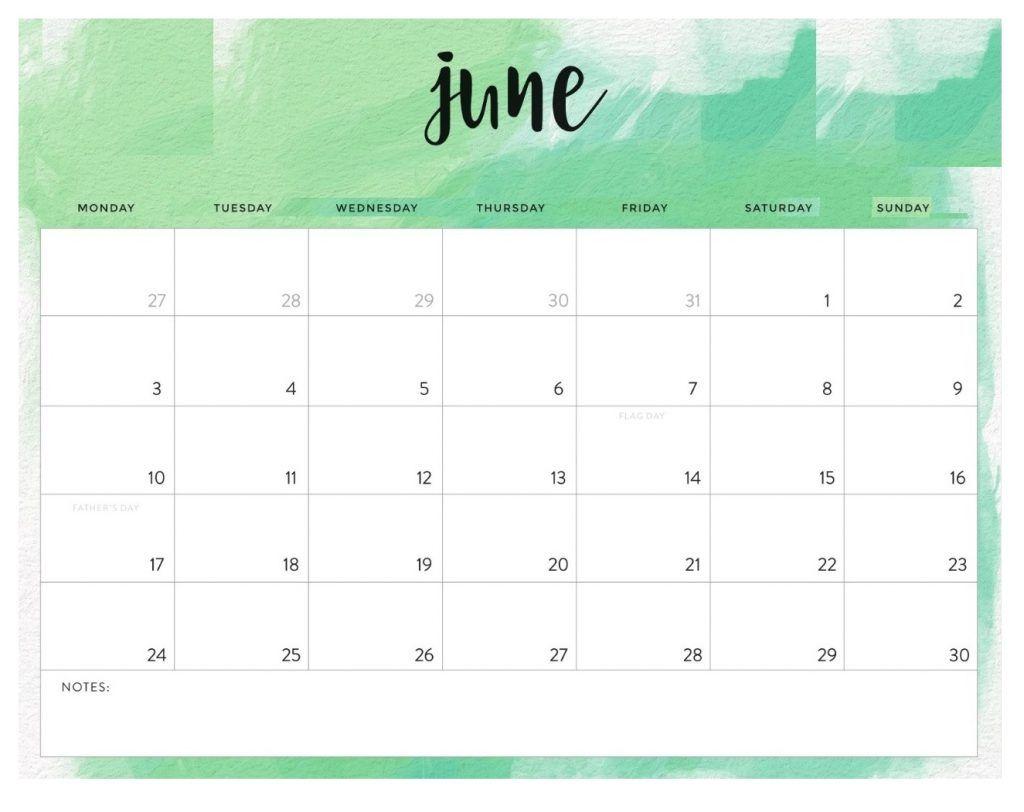 Free June 2019 Desk Calendar (With images) Desk