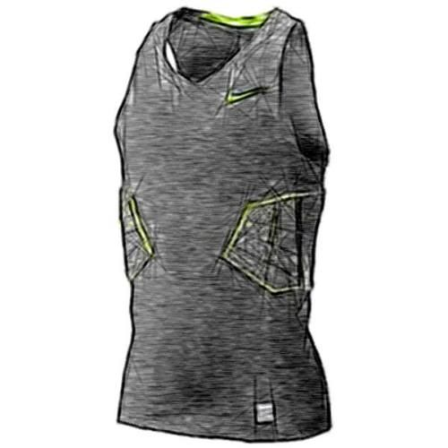 Nike pro combat #hyperstrong elite #basketball tank - men's #(black/volt