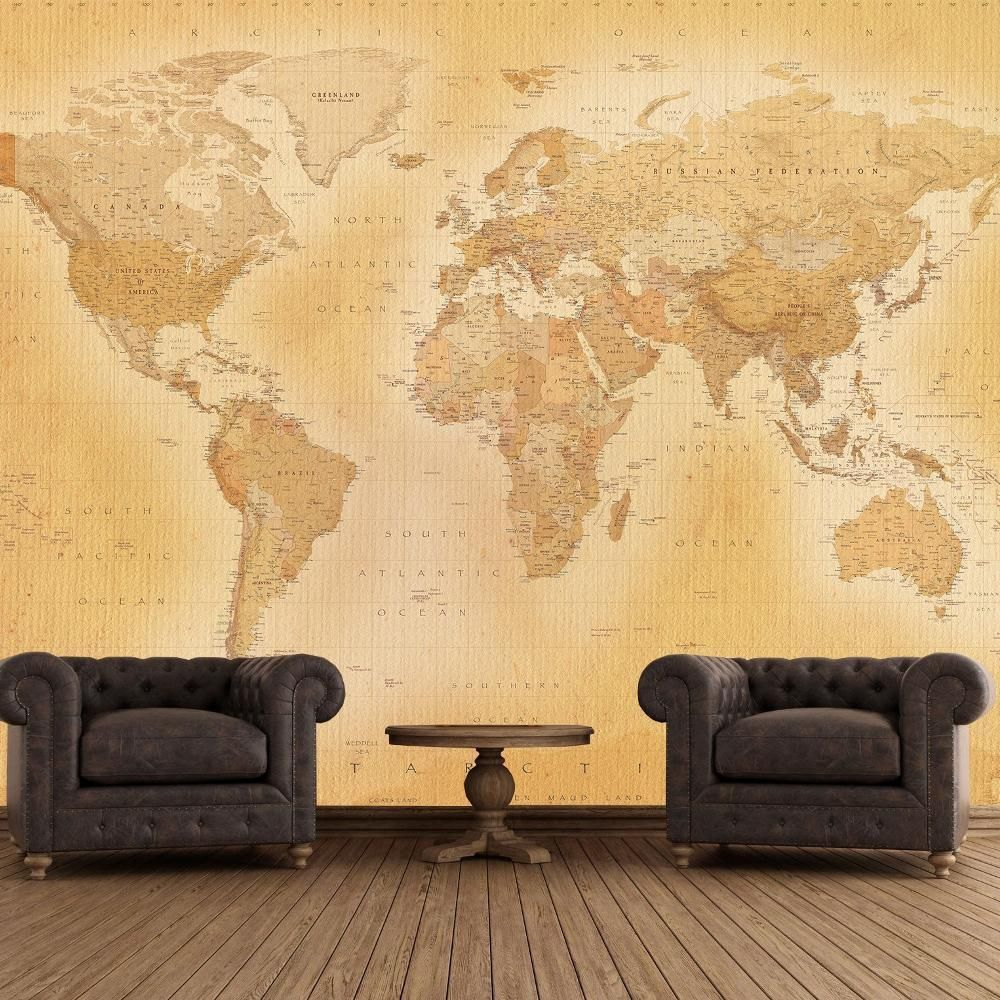 New 1 wall old map vintage giant wallpaper mural