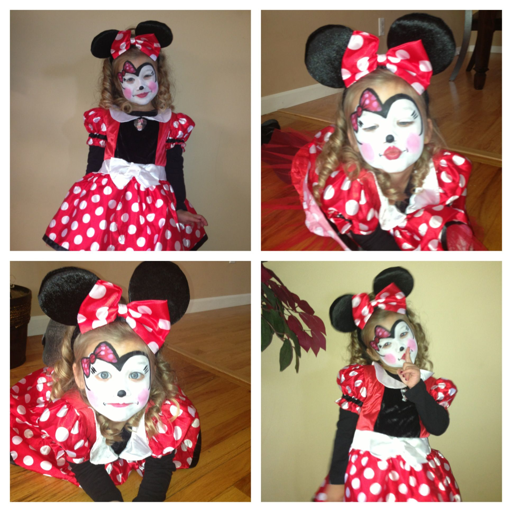 Minnie Mouse Costume and face paint! | KIDS-crafts-clothing etc ...