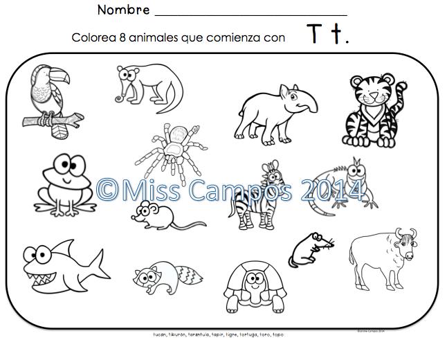 Letra T Silabas Ta Te Ti To Tu Spanish Learning School