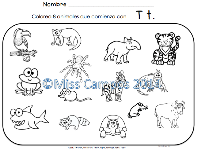 Letra T Silabas Ta Te Ti To Tu Spanish Resources Spanish Comics