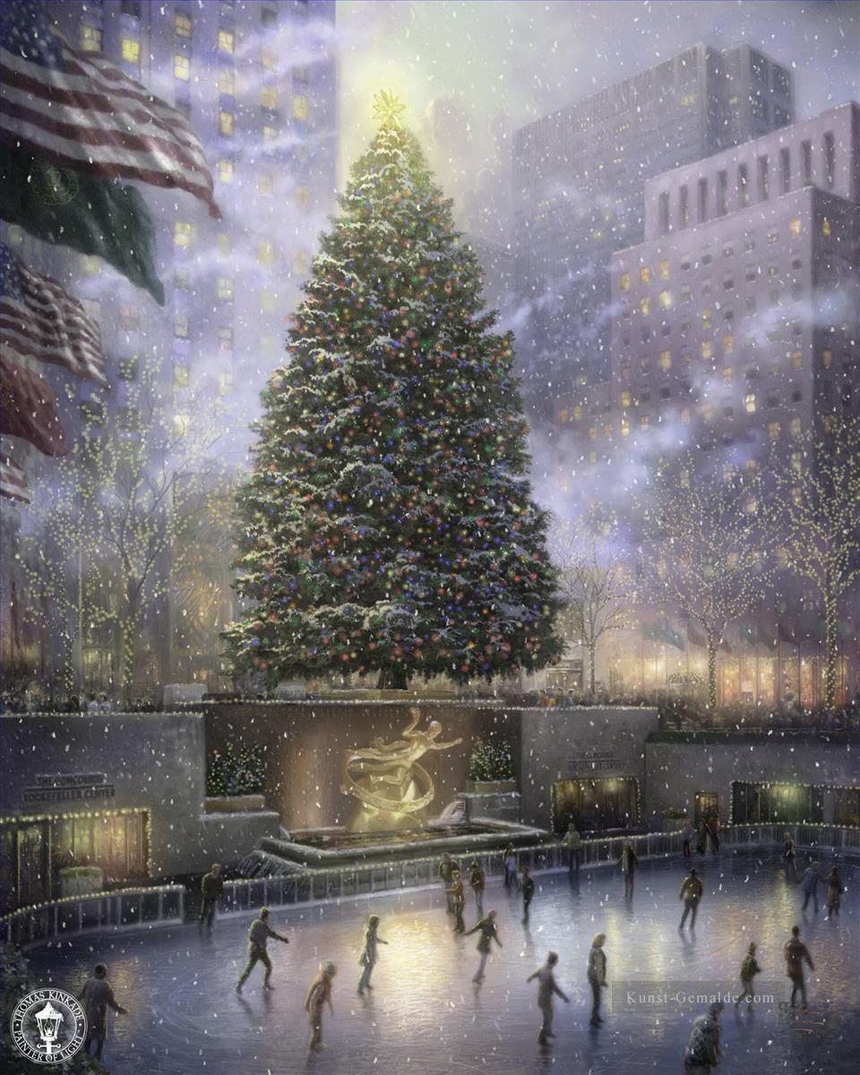 Christmas in New York Thomas Kinkade