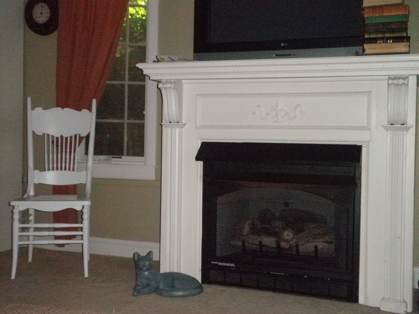 Old Painted Fireplace Mantel Pictures The Antique