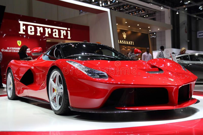 Ferrari LaFerrari  Geneva Motor Show 2013 Ferrari LaFerrari car on display at