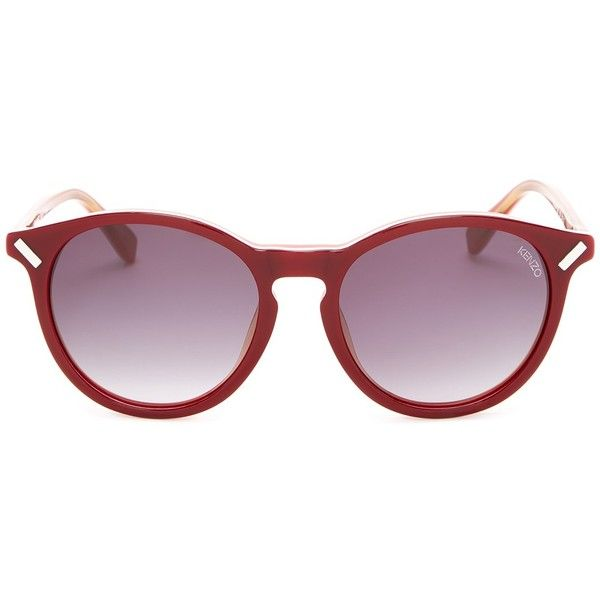 8db0fa0e5df6 KENZO Women's Burgundy Acetate Sunglasses ($93) ❤ liked on Polyvore  featuring accessories, eyewear, sunglasses, kenzo, gradient lens sunglasses,  ...