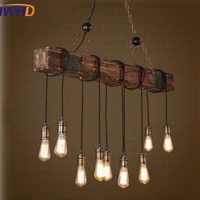 5 Anhänger Leuchte Custom Holz Halterung gewickelt Decke