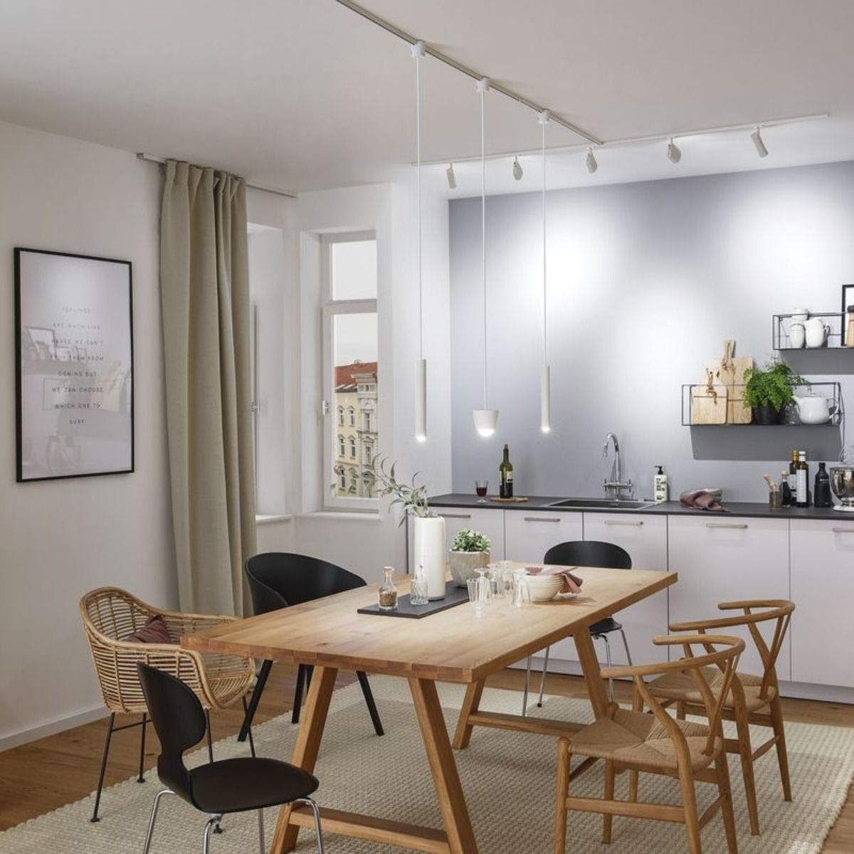 Esstischbeleuchtung Mit Pendelleuchten Wohn Esszimmer Paulmann Esstisch Beleuchtung