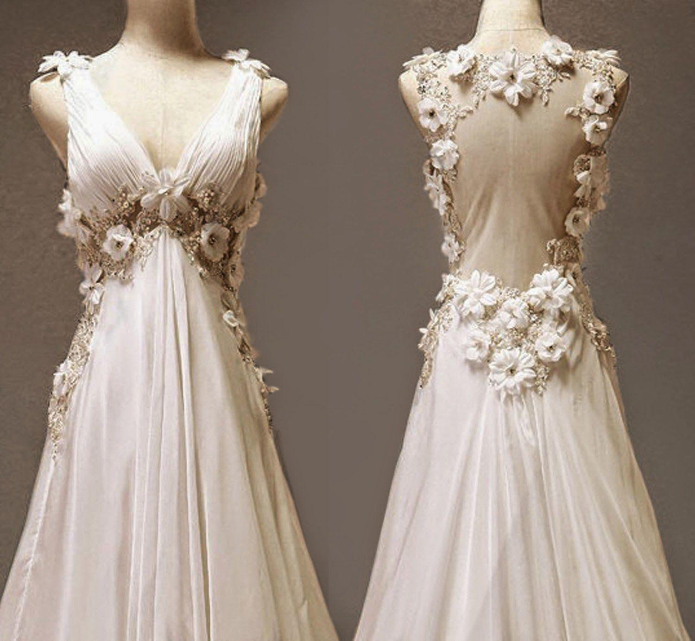 Off White Vintage Wedding Dress A Line Bridal Gowns Bridal Gowns Wedding Dresses