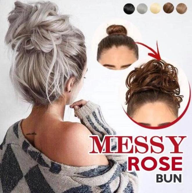 Messy Rose Bun Rose Bun Volume Hair Bun Hairstyles