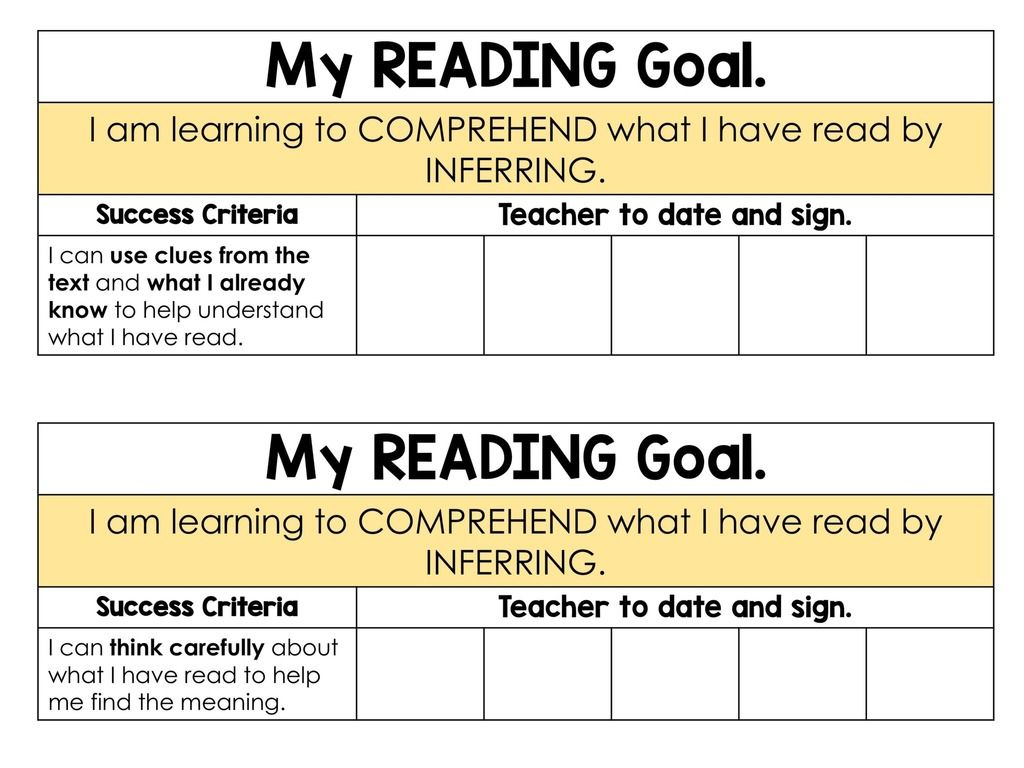 Reading Goals Booklets Posters And Tracking Forms