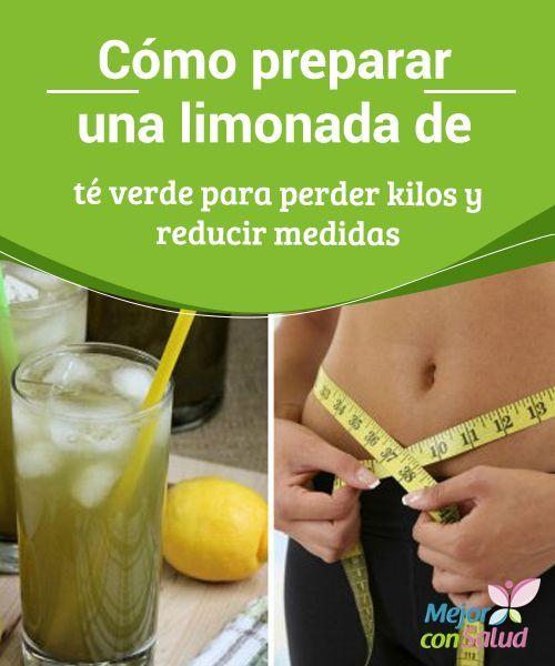 te verde para adelgazar barriga con limon