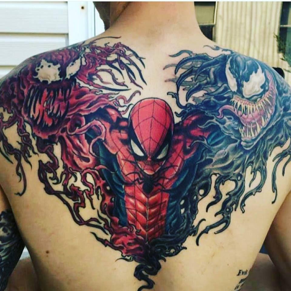 Spider Man Venom Carnage Tattoo