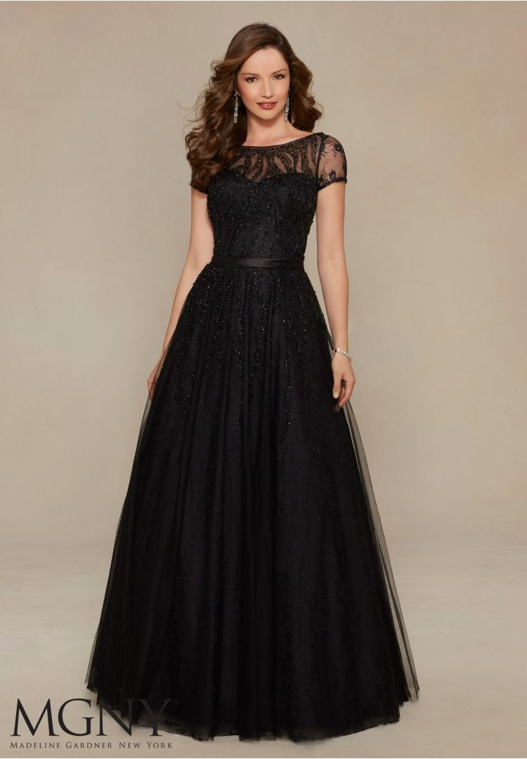 Evening Gowns and Mother of the Bride Dresses by MGNY Beaded Tulle ...
